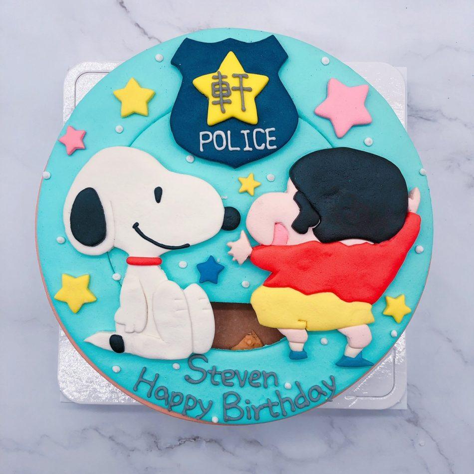 蠟筆小新客製化造型蛋糕,史努比卡通生日蛋糕推薦