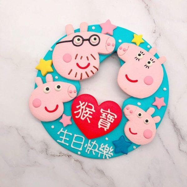 佩佩豬卡通造型蛋糕, Peppa Pig一家人生日蛋糕作品分享