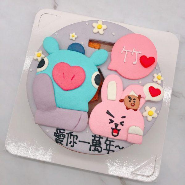 BT21COOKY生日蛋糕推薦,MANG造型蛋糕宅配