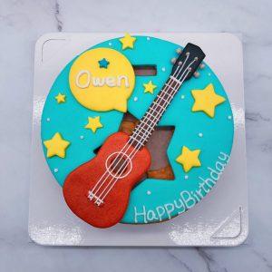 台北吉他生日蛋糕推薦,烏克麗麗客製化造型蛋糕宅配