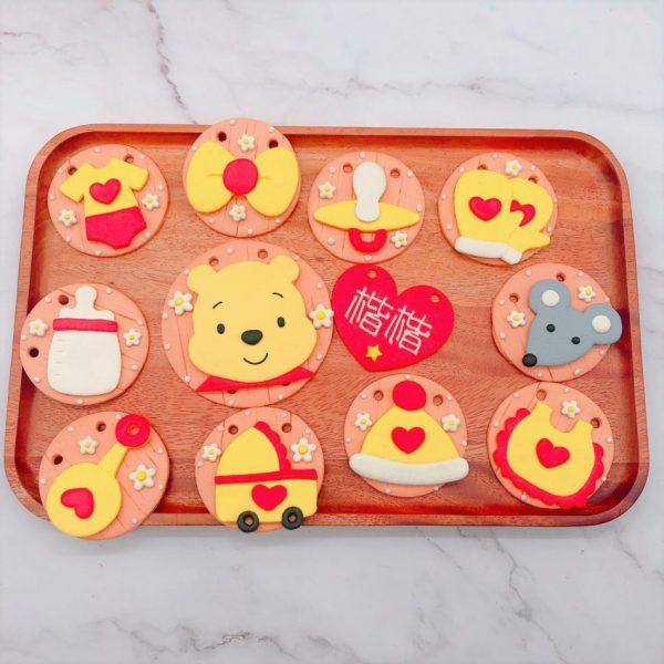 小熊維尼收涎餅乾推薦,寶寶客製化收涎餅乾宅配
