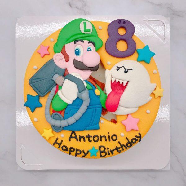 路易吉造型蛋糕推薦,Mario生日蛋糕作品分享