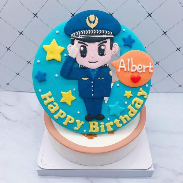台北警察造型蛋糕宅配,Q版人像生日蛋糕推薦分享