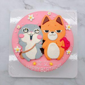好想兔生日蛋糕手作分享,狐狸造型蛋糕推薦