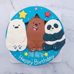 熊熊遇見你胖達生日蛋糕推薦,大大/阿極造型蛋糕宅配訂購