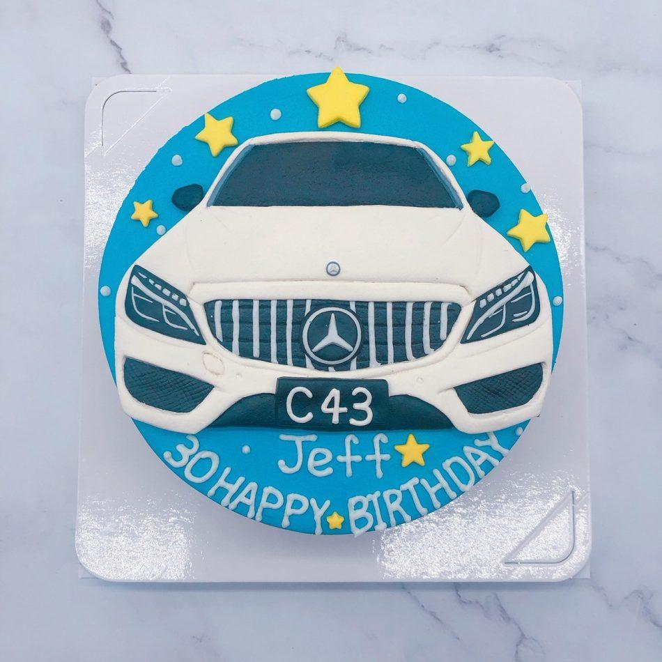 賓士汽車造型蛋糕 ,Mercedes-Benz車子生日蛋糕推薦