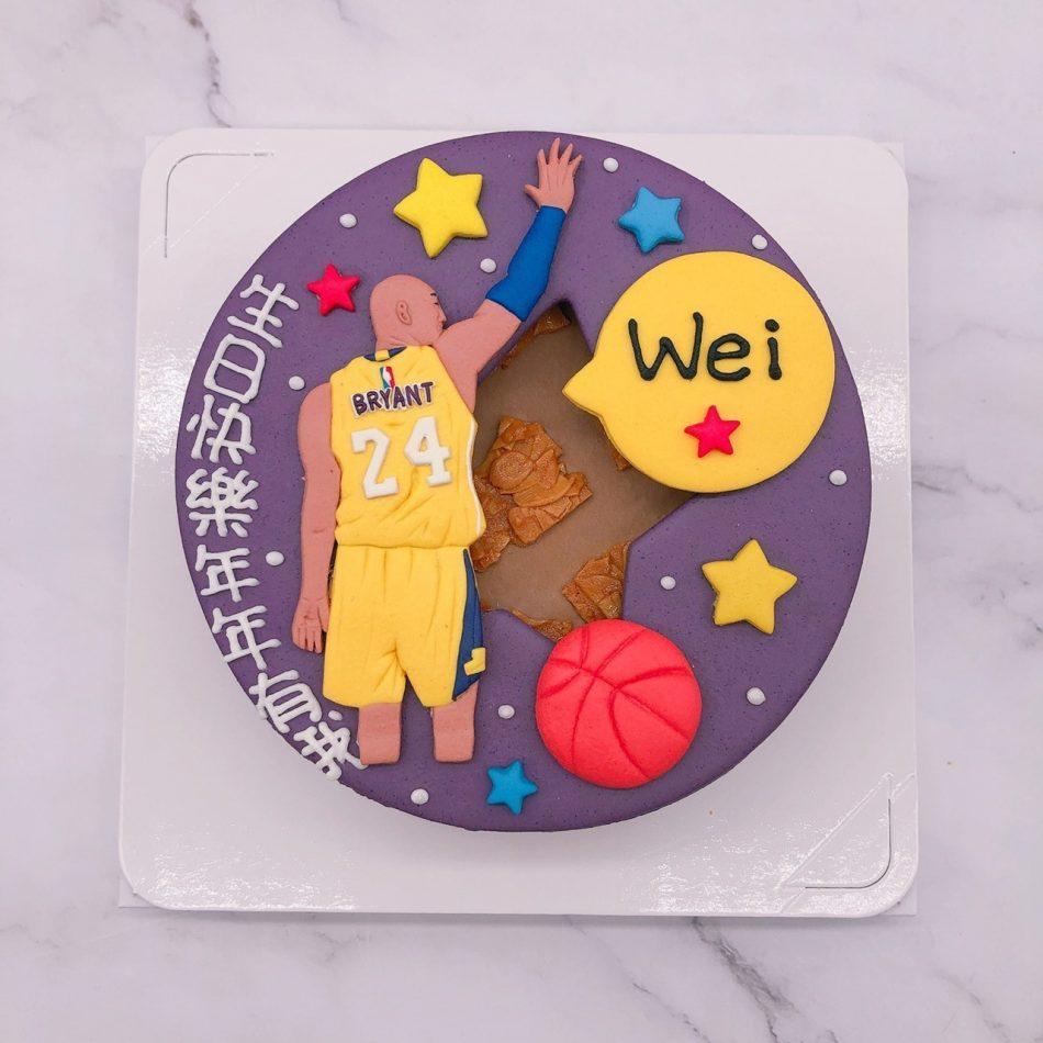 Kobe Bryant造型蛋糕推薦,NBA籃球生日造型蛋糕宅配