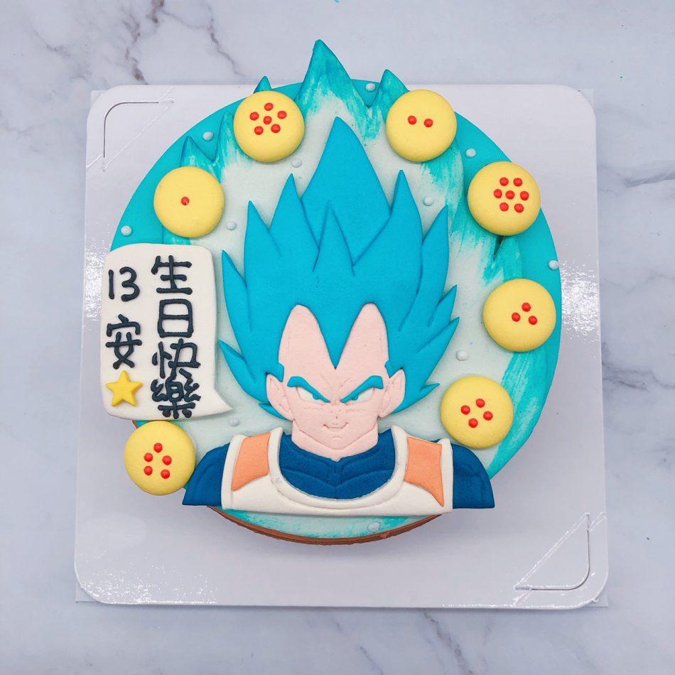 七龍珠生日蛋糕推薦,超藍達爾造型蛋糕宅配