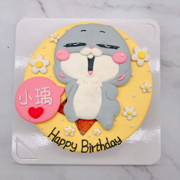 台北好想兔生日蛋糕手作分享,純手工捏製造型蛋糕推薦