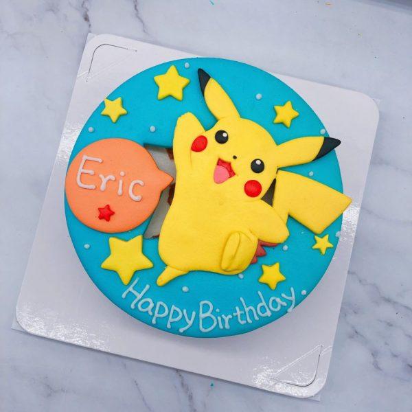 寶可夢皮卡丘造型蛋糕,神奇寶貝卡通生日蛋糕推薦