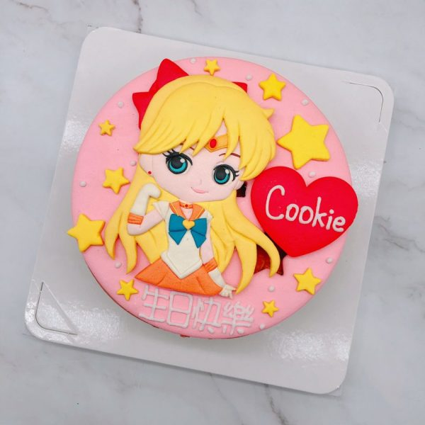 美少女戰士造型蛋糕,水手金星/愛野美奈子生日蛋糕推薦
