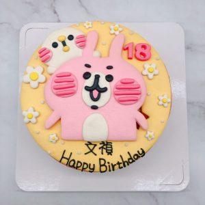台北卡娜赫拉生日蛋糕,粉紅兔兔造型蛋糕作品分享