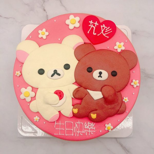 台北拉拉熊造型蛋糕,懶懶熊生日蛋糕作品分享