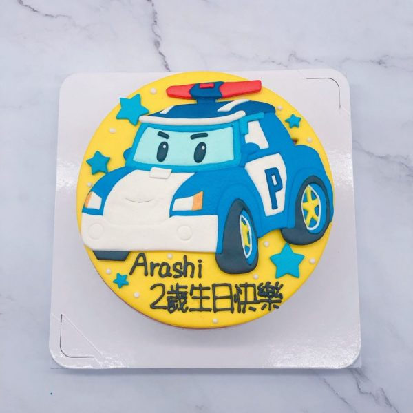 救援小英雄POLI系列卡通蛋糕,波力車子造型蛋糕推薦