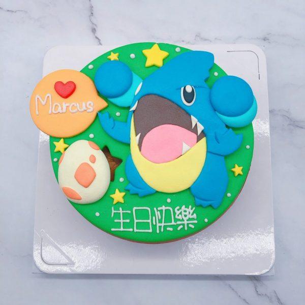 寶可夢卡通生日蛋糕推薦,圓陸鯊造型蛋糕宅配