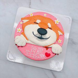 台北柴犬生日蛋糕推薦,寵物造型蛋糕宅配訂購