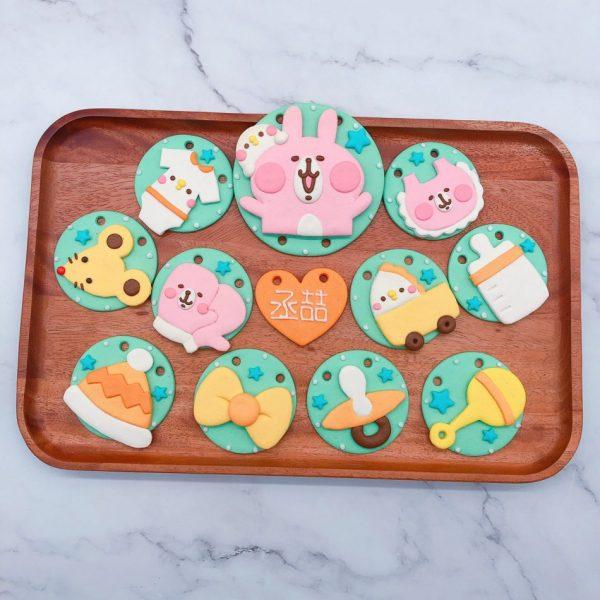 卡娜赫拉收涎餅乾作品分享,台北寶寶客製化收涎餅乾