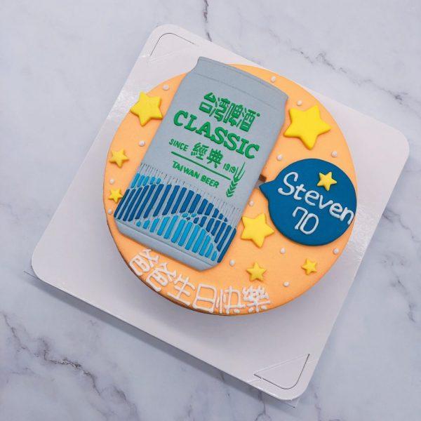 台灣啤酒手作造型蛋糕,啤酒生日蛋糕作品分享