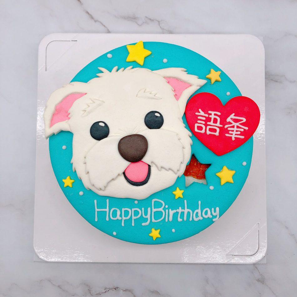 Q版狗狗生日蛋糕推薦,寵物造型蛋糕宅配