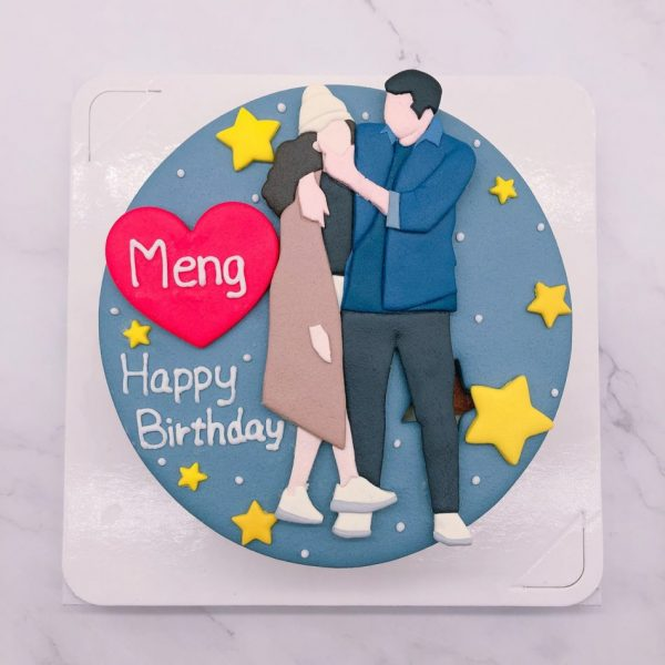Q版人像造型蛋糕推薦,情侶造型蛋糕生作品分享