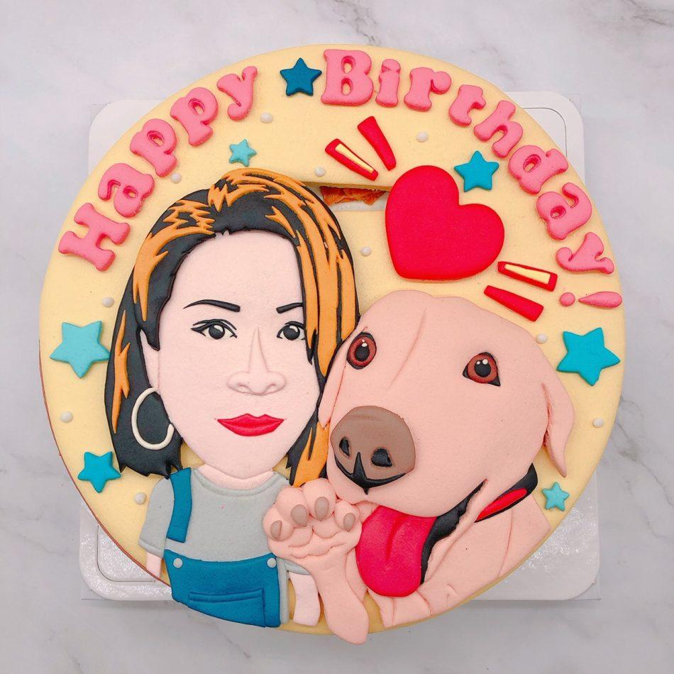 Q版人像造型蛋糕推薦,寵物客製化生日蛋糕推薦
