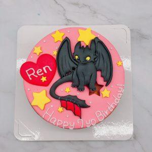 巡龍高手生日蛋糕推薦,夜煞沒牙造型蛋糕宅配