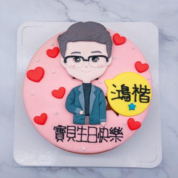 Q版人像生日蛋糕推薦,台北客製化造型蛋糕宅配