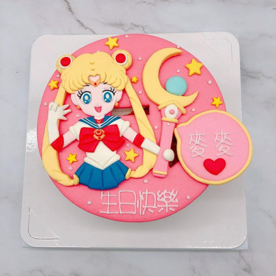 美少女戰士造型蛋糕推薦,月光仙子生日蛋糕宅配