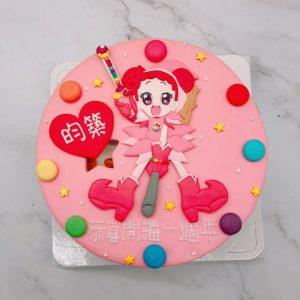 台北小魔女DoReMi生日蛋糕推薦,客製化卡通造型蛋糕宅配