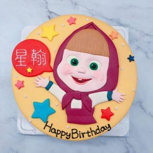 瑪莎與熊造型蛋糕推薦,卡通瑪莎生日蛋糕宅配