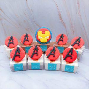 英雄系列杯子蛋糕推薦,鋼鐵人杯子蛋糕手作分享