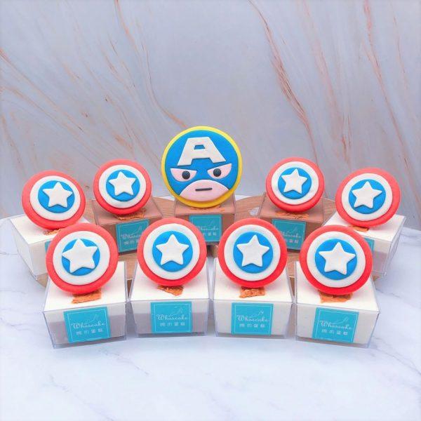英雄系列杯子蛋糕推薦,美國隊長杯子蛋糕手作分享