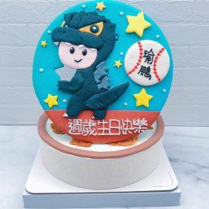Q版哥吉拉造型蛋糕推薦,寶寶客製化生日蛋糕宅配