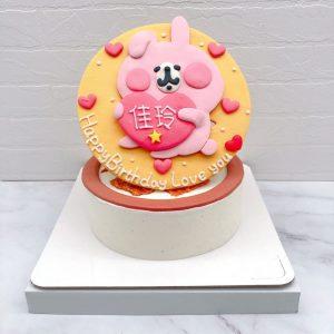 粉紅兔兔造型蛋糕推薦,卡娜赫拉生日蛋糕作品分享