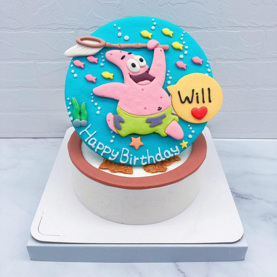派大星造型蛋糕推薦,海綿寶寶卡通造型蛋糕宅配