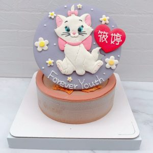 瑪麗貓生日蛋糕推薦,台北迪士尼客製化蛋糕