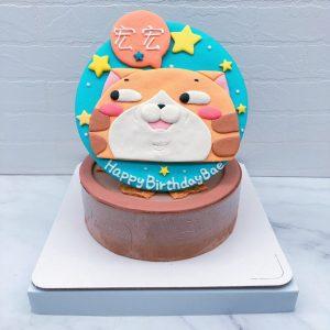 白爛貓生日蛋糕推薦,客製化造型蛋糕作品分享