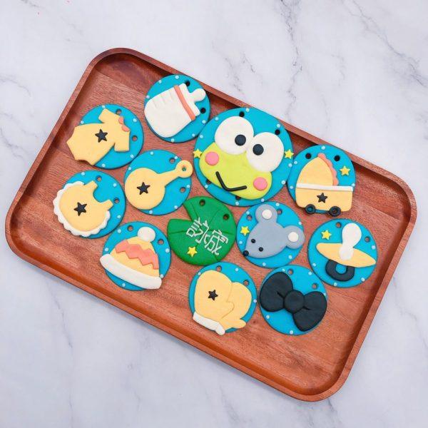 大眼蛙收涎餅乾作品分享,寶寶客製化收涎餅乾推薦