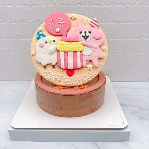 卡娜赫拉生日蛋糕作品分享 ,粉紅兔兔造型蛋糕推薦
