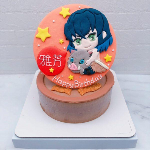 嘴平伊之助造型蛋糕推薦,鬼滅之刃生日蛋糕作品分享