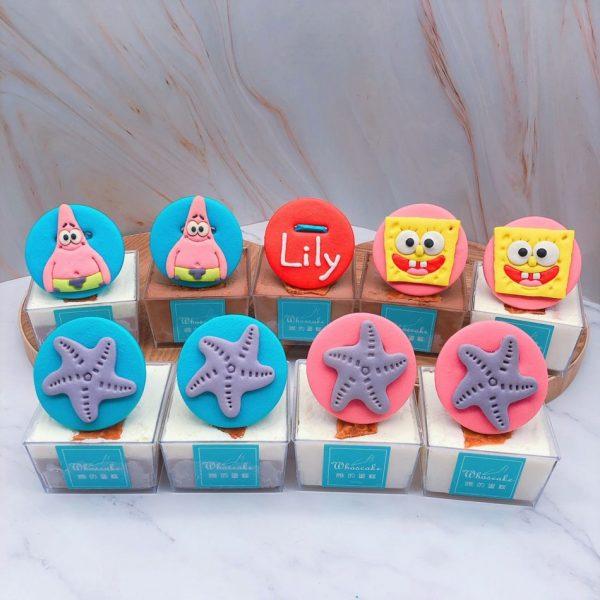 海綿寶寶杯子蛋糕推薦,派大星杯子蛋糕手作分享