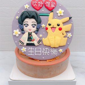 鬼滅之刃胡蝶忍生日蛋糕推薦,皮卡丘造型蛋糕宅配