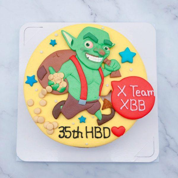 部落衝突生日蛋糕推薦,哥布林造型蛋糕宅配分享