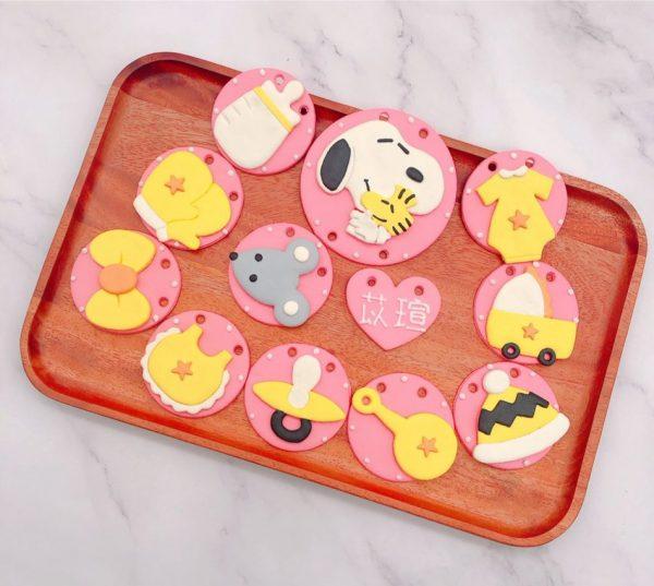 史努比收涎餅乾作品分享,糊塗塔克客製化收涎餅乾推薦