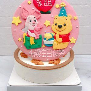 小熊維尼生日蛋糕推薦,小豬卡通造型蛋糕宅配
