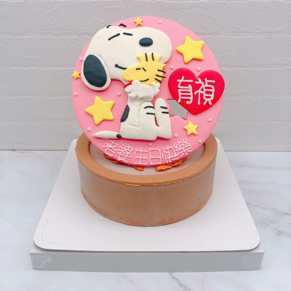 史努比生日蛋糕推薦,糊塗塔克造型蛋糕宅配