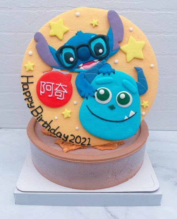 史迪奇造型蛋糕推薦,毛怪生日蛋糕宅配