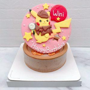 皮卡丘造型蛋糕推薦,寶可夢卡通生日蛋糕宅配