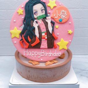 鬼滅之刃生日蛋糕推薦,禰豆子造型蛋糕作品分享