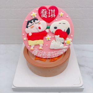 史努比生日蛋糕蛋糕推薦,蠟筆小新卡通造型蛋糕宅配
